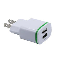 2.1A 2 Port US EU Plug Dual USB Travel Wall Mount Charger Adaptor