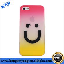 cute smile face hard pc case for iphone 4/4s/5/5s/5c