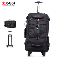 Multi-functional Carry On Outdoor wheel trolley backpack wheels Rolling Luggage Travel wheeled backpack