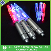 Colorful Led Ball Pen with Customized Logo, LED Logo-customized Metal Pen