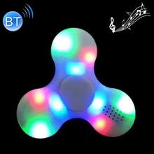 Hot selling Bluetooth V4.0 Speaker Glowing Fidget Spinner Toy Anti-Anxiety Toy with RGB LED Light