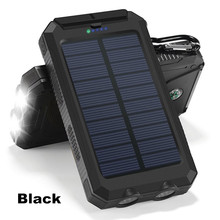 PowerGreen Solar Charger,10000mAh Portable Power Bank External Battery with Dual USB Outputs Backup Battery Pack