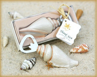 100pcs Unique Beach Wedding favor of Sea Shell Bottle Opener wedding souvenirs DHL Freeshipping
