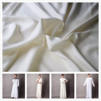 2016 wholesale price high quality 120nm/2 100% spun silk yarn woven silk fabric