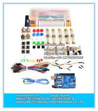 hot sale generic parts package For kit + UNO R3 +MB-102 830 points Breadboard +65 Flexible cables+ jumper we box DIY