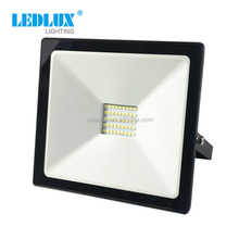 New design 2018 silm 30 watt led flood light with glass cover