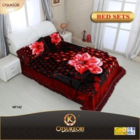 one and two ply Korean style new embroidery bed sheet in China