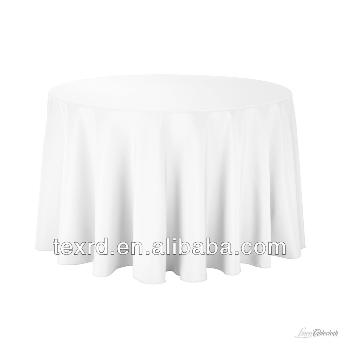 White Round Polyester Wedding Table Cloth