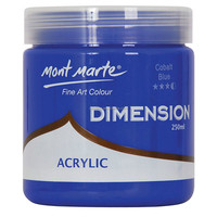 Mont Marte Dimension Acrylic Paint 250mls - Cobalt Blue