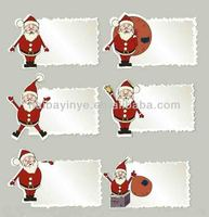 New design Christmas glass window decor label stickers