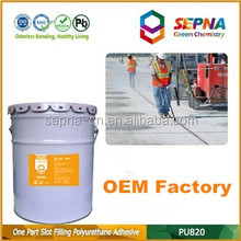 Top quality Single component Grey color Road construction Polyurethane hydraulic fluid resistance concrete road repair adhesive