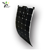 High efficiency waterproof total black 100w 12v ETFE semi flexible solar panel for boat rv system