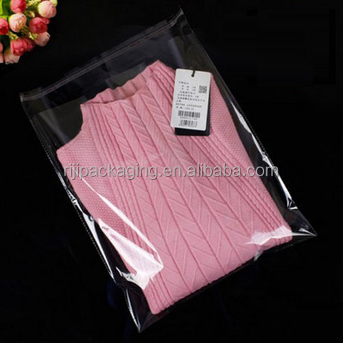 Wholesale clear OPP self adhesive bags for T-shirt packaging