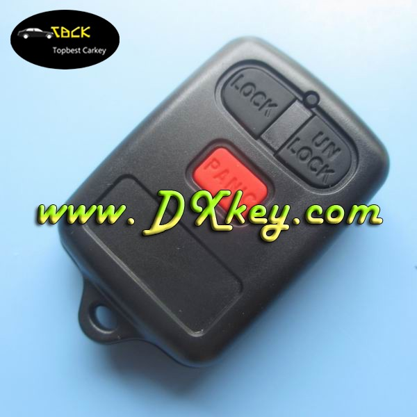 Wholesale price 3 buttons key fob cover without logo for toyota key shell toyota remote key case