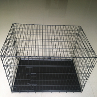 48 inch Double Door Folding Dog Crate By CQX Pet Products Extra Large