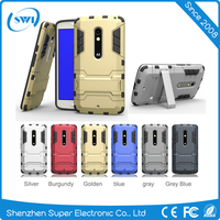 Top selling TPU PC two in one case with holder for Motorola X play
