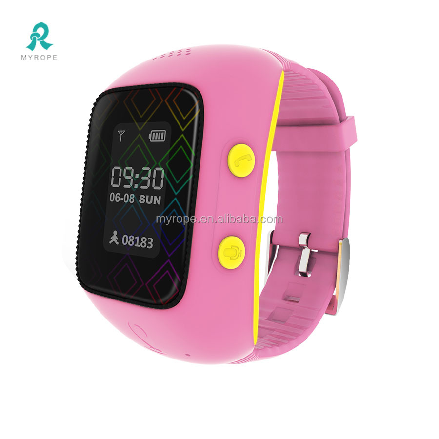 SOS panic button gps watch with sim card/ smart kids phone Watch Voice Recorder gps watch/Mini GPS tracking watch R12