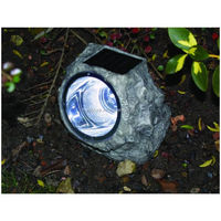 outdoor decoration garden solar rock light