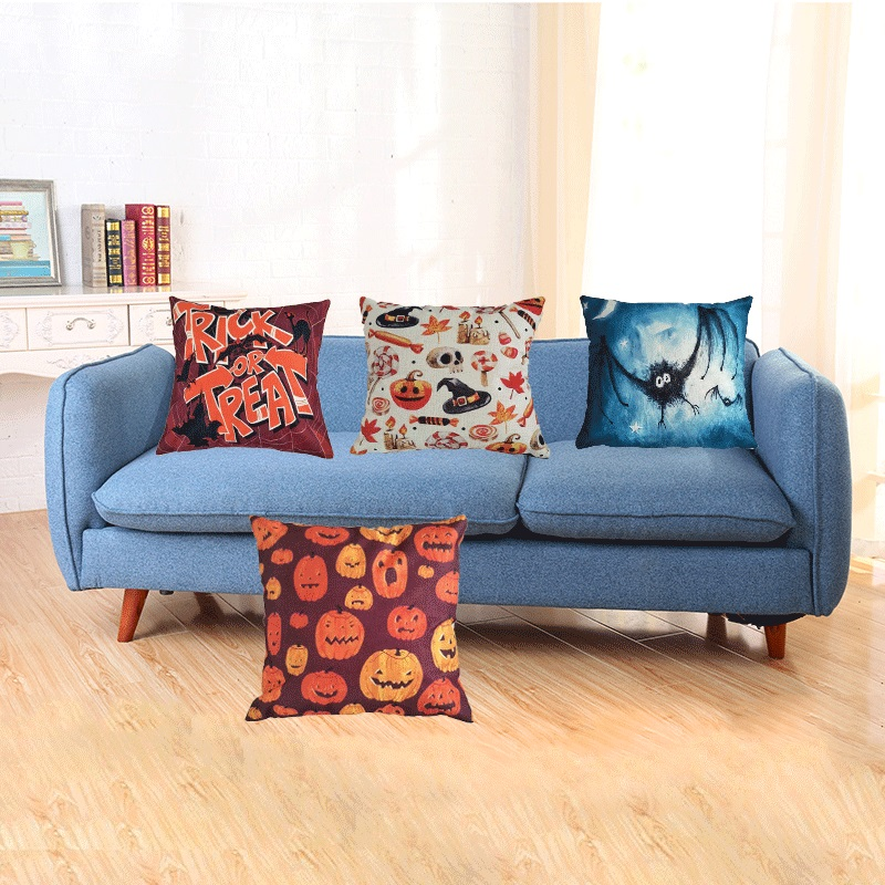 chines factory Wholesale 18'' outdoor bench linen cushion covers online for Hallowmas