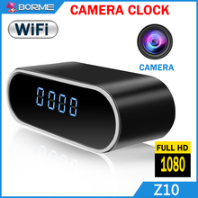 Wifi alarm clock ip camera with ir light ,motion dection long range view angel spy clock camera wireless hidden ip camera 720p