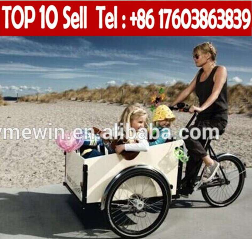China three wheels cargo bicycle, cargo tricycle with cabin, Cargo Bikes for sale
