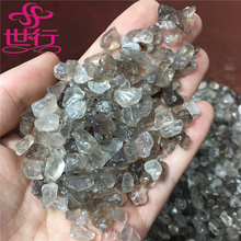 natural smoke crystal quartz rough stone polished tumbled stone