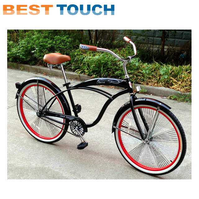 24 26 Inch Yellow Orange Green Red Blue White Black Color Aluminnum Alloy Steel Beach Cruiser Bicycle