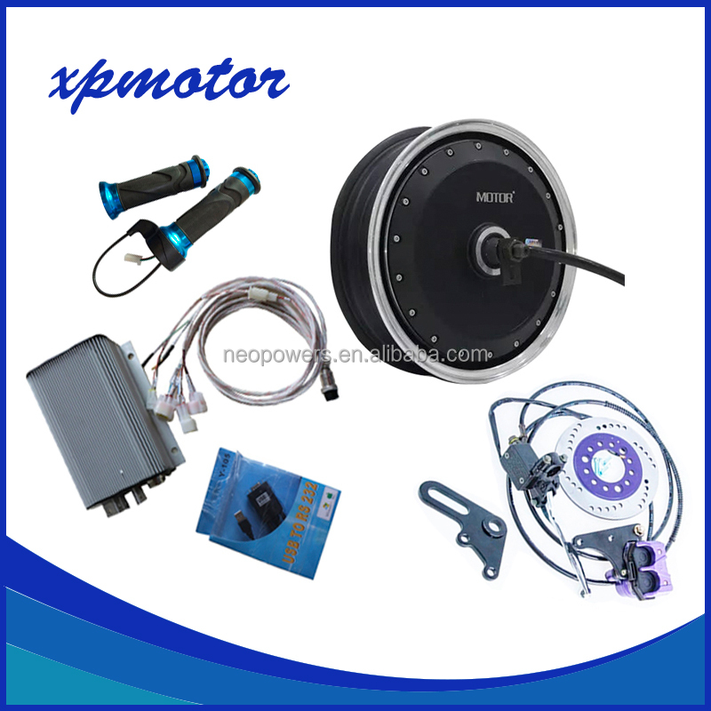 13inch 1500W Electric Scooter Hub Motor Conversion Kits with Controller + Disc Brake System + Throttle