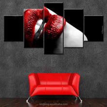 Home Decor Artwork sexy women red lip canvas wall art as christmas gift High Quality pop art wall decorative painting on canvas