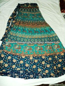 100 indian printed long skirts lot