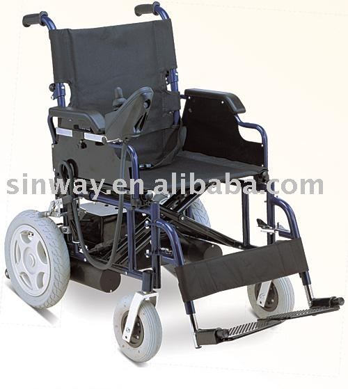Folding electric motor wheelchair for disabled
