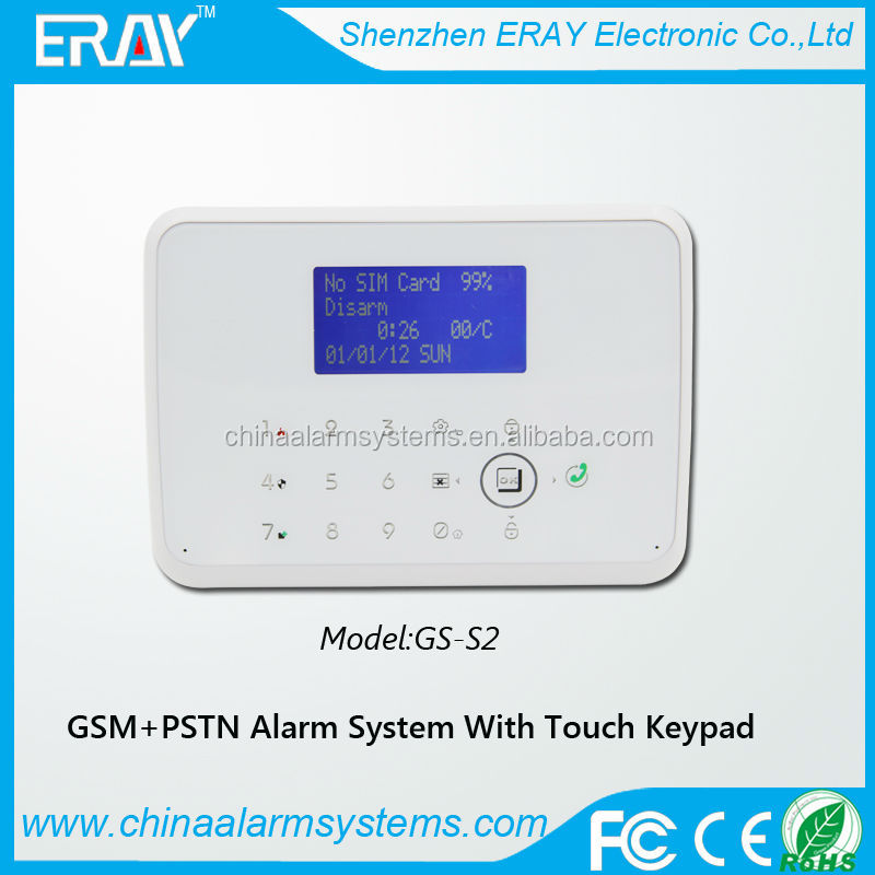 gsm + pstn wifi burglar alarm with 1 way relay output