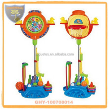 Kids good quality 7 in 1 basketball stands with inflatable ball for sale