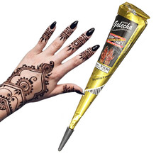 Factory Wholesale New Design Mehndi Black Henna Paste Cones