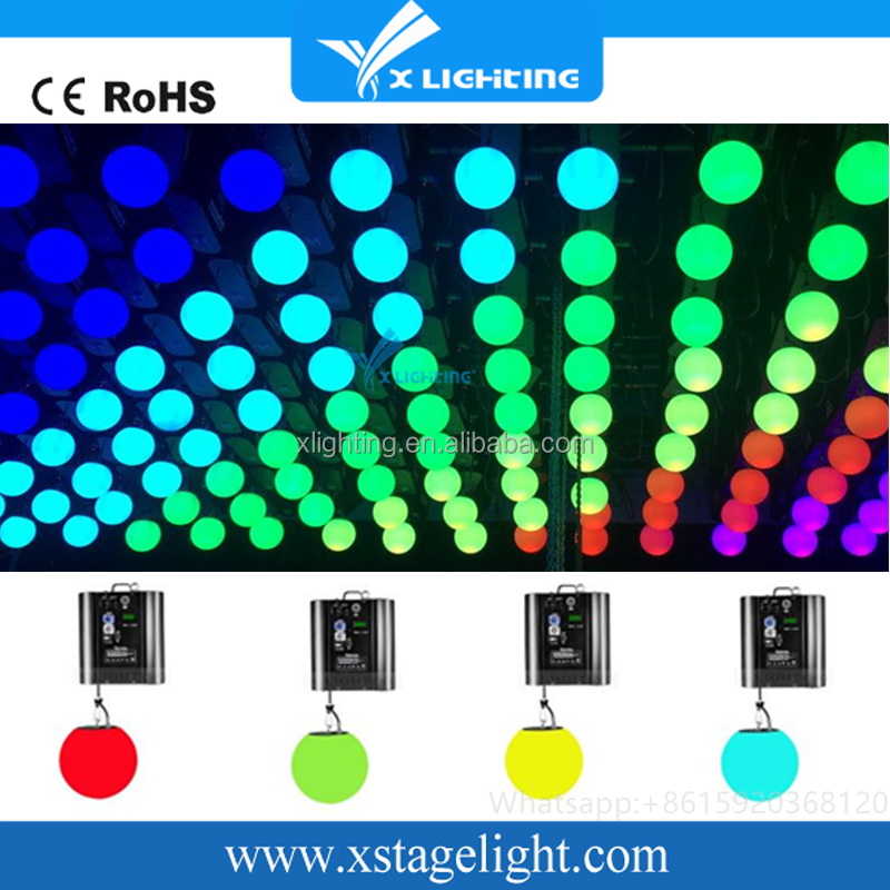 Professinal Stage Light RGB Colorful DMX LED Lift Ball Kinetic lighting