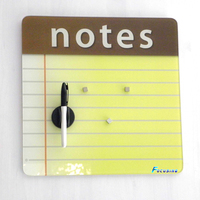 Tempered glass writing note board for office