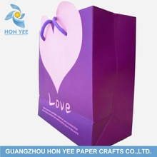 Decorative Unique Heart Shaped Small Paper Packaging Bags With Customized logo