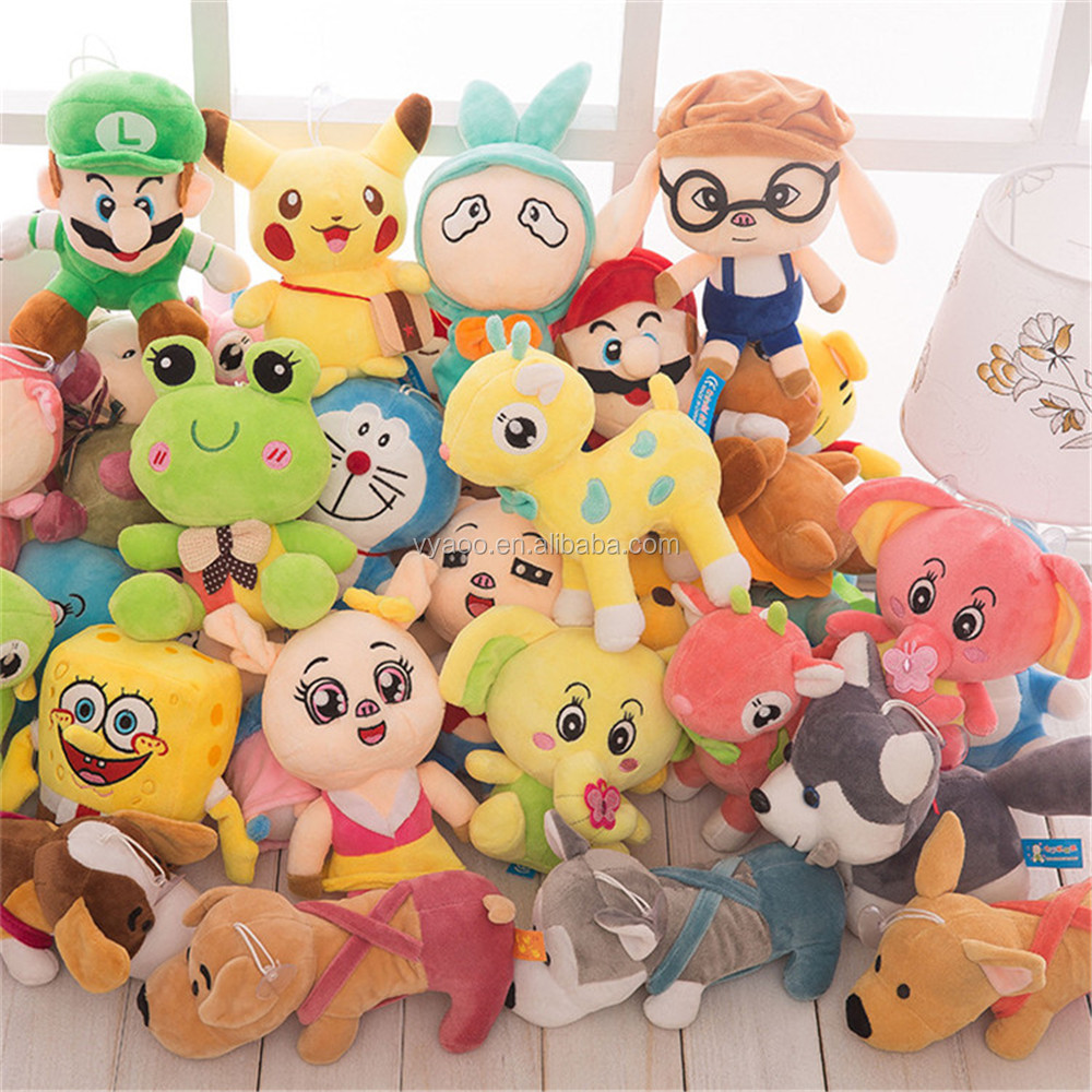 Hot selling Cheap anime plush stuffed toys for crane machines