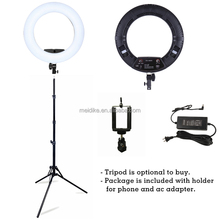 make-up artist lamp led ring photography with dimmer, ring light rechargeable outer 18'' inner 12''