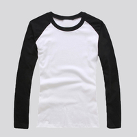 cotton 2016 fashion children's t-shirts raglan long sleeve for boys and girls custom embroidered kid's t-shirt