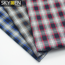 China Suppliers 100 Cotton Herringbone Flannel Yarn Dyed Plaid Fabrics for shirt