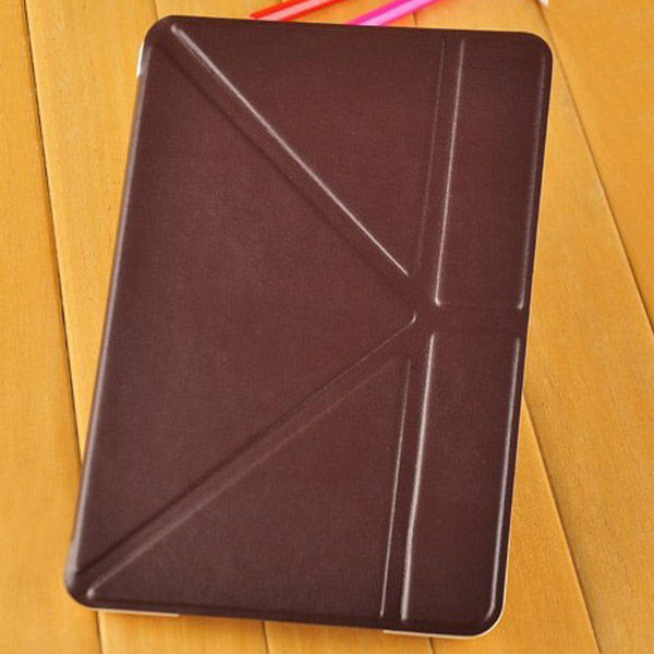 new design 4 fold stand leather case for ipad mini
