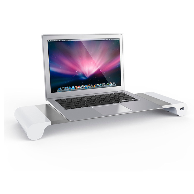 Portable computer laptop stand aluminum with adjustable,dual monitor stand for laptop