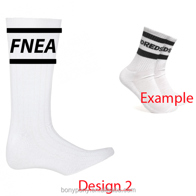BONYPONY Men's terry cotton custom logo mid calf sport socks