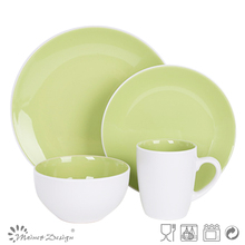 Two Tone 16-Piece Ceramic Dinnerware Set for Home usage