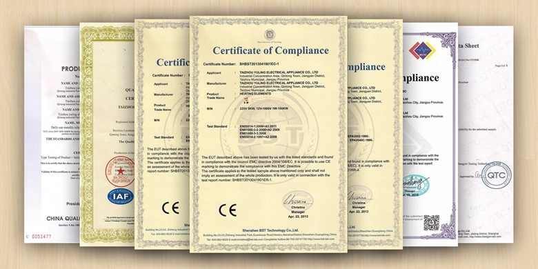 CE certified electric instant water heater heating element