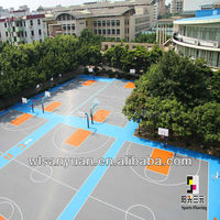 PP interlocking sports flooring basketball courts used floor