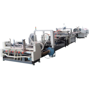 Corrugated Paper Carton Automatic Folder Gluer / Folding Gluing carton boxs making machine