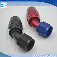 AN fittings 4 6 8 10 12 16 20 Straight 45 90 180 degree female/pipes Aluminum alloy hose ends fittings red blue black