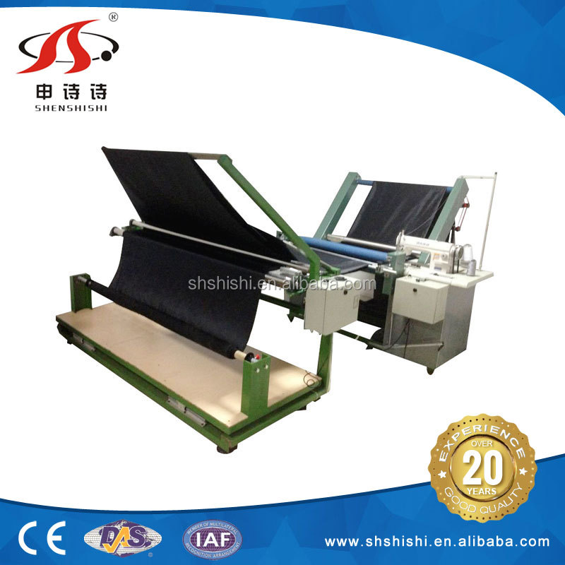 Factory fabric cloth quality process SSPS-317 automatic folding cutting sewing machine
